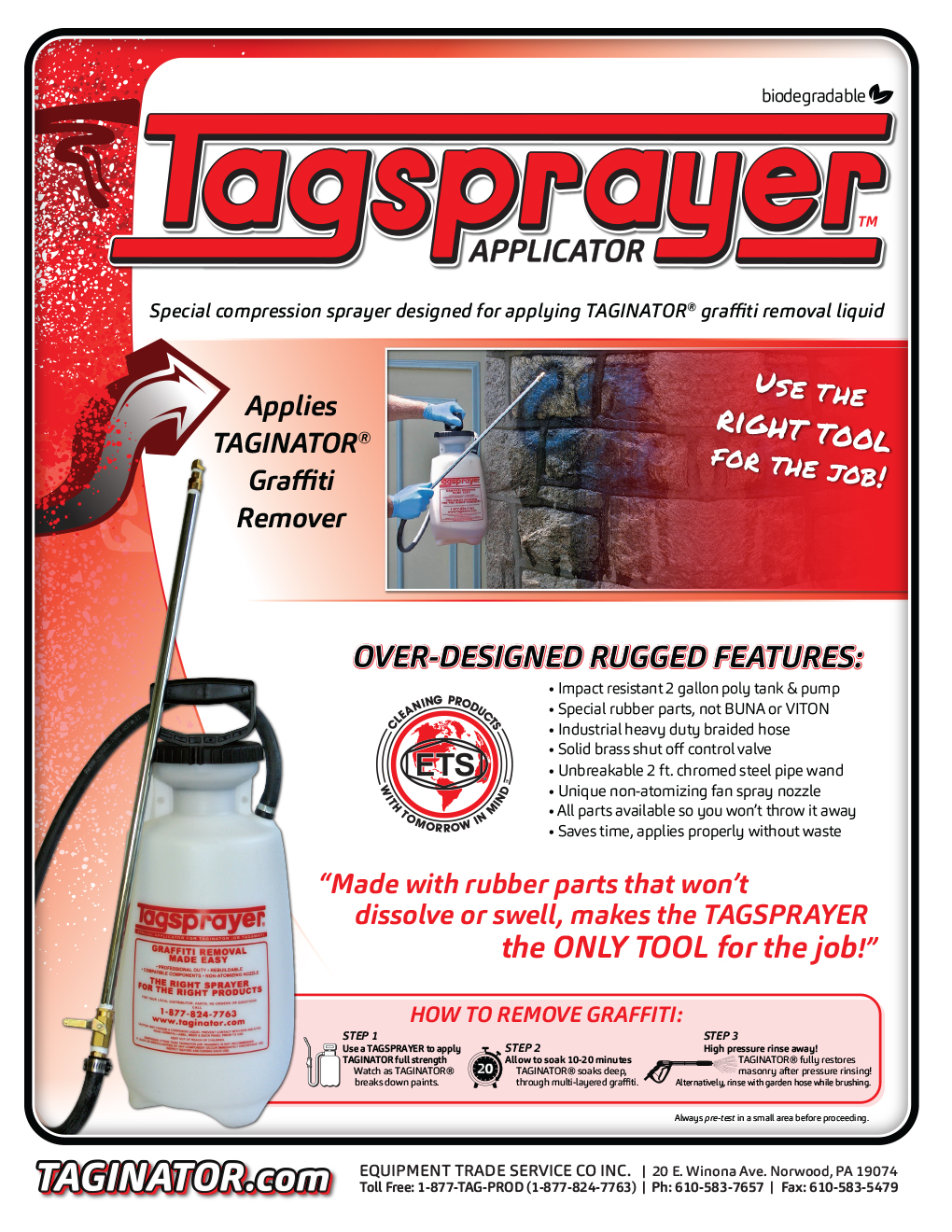 Graffiti Remover SDS   Safety Data Sheets for Taginator and